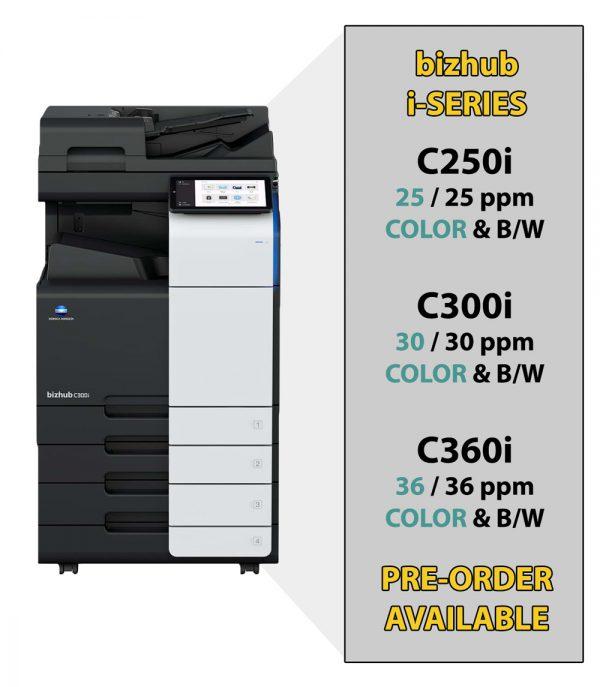 Specification bizhub C360i/300i/250i