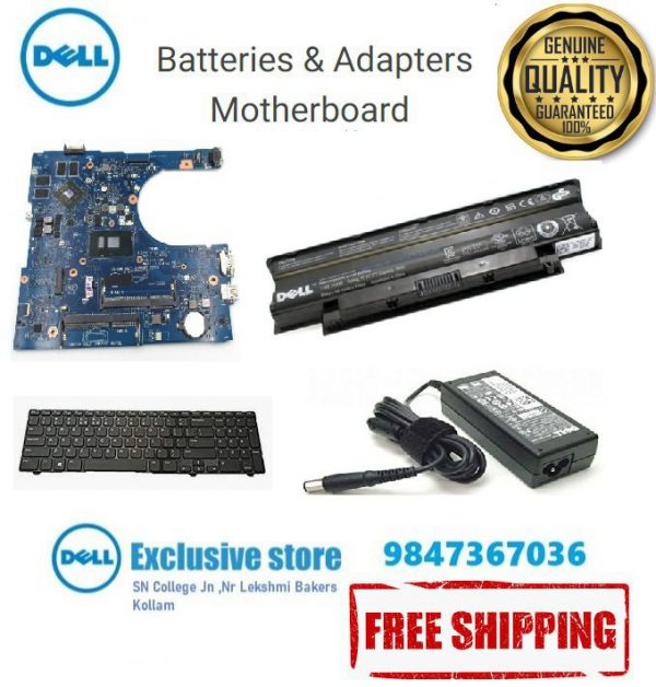 Dell Laptop Batteries, Adaptor and Mother Bord prie India Kerala